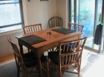 The dining room table, where I'll be hosting a few guests.