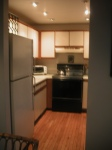 My huge kitchen, complete with dishwasher!