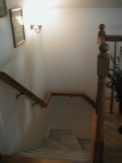 These are the stairs down from the attic.