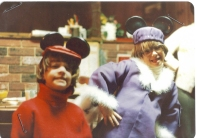 Chuck as Bernard and me as Bianca from Disney's The Rescuers, Halloween, 1977.
