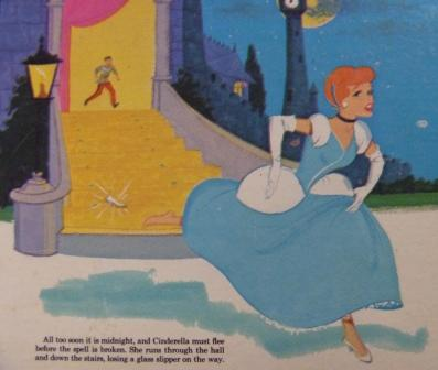 22 - Cinderella dashes down stairs