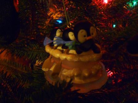 16 Three Penguin Tree Ornaments