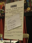 46 Fangoria Panel Announcement Board
