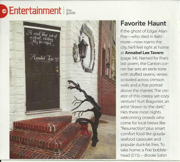 Annabel Lee Tavern Magazine Feature