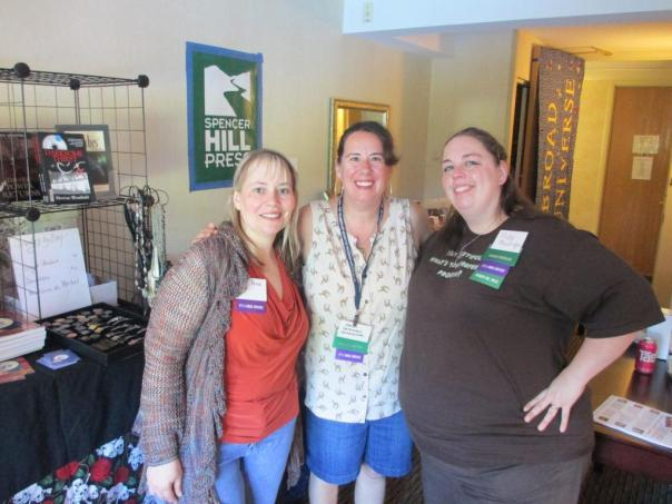 12 8Pi-Con From left, Terri Bruce (author of the Hereafter series), me, and Trisha.