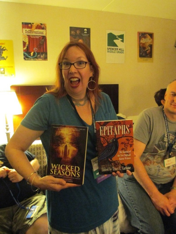 35 8Pi-Con Suzanne Reynolds-Alpert, author of Interview with the FAERIE (PART ONE): AND OTHER POEMS OF DARKNESS AND LIGHT, won copies of both New England Horror Writers anthologies, WICKED SEASONS and EPITAPHS.