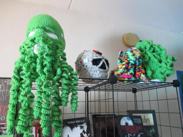43 8Pi-Con Jan knits just about everything you can think of with a Cthulu twist….
