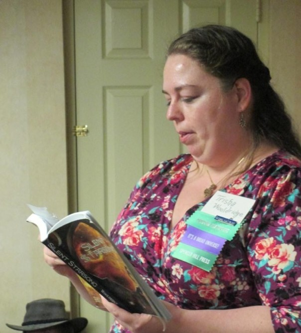58 8Pi-Con Trisha J. Woodridge reads from her book SILENT STARSONG.