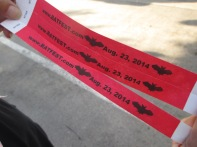 BatFest wristbands