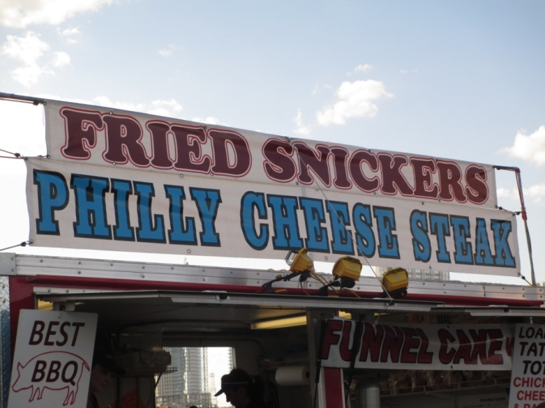 Fried snickers sign