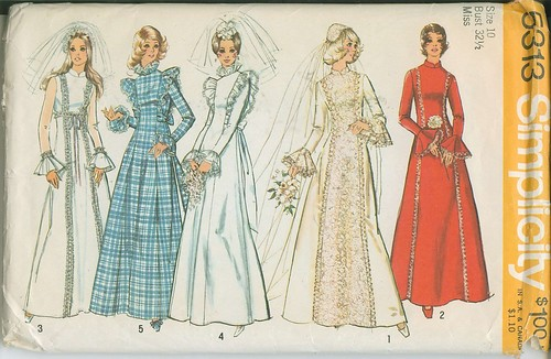 1970s Wedding Gowns Simplicity Patterns