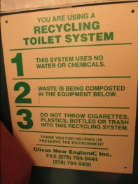 Gillette Castle 4 - Composting toilet rules