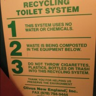 Gillette Castle 4 - Composting toilet rules