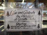 Gillette Castle 14 - Holiday Hours Sign
