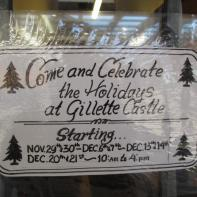 Gillette Castle 14 - Holiday Hours Sign