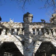 Gillette Castle 24 - Castle Cat Statues