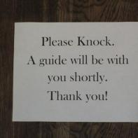 Gillette Castle 27 - Knocking sign