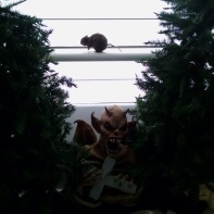 Oh no! It's a demon in the evergreens! It's just like New Milford, CT!
