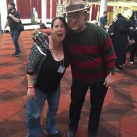 Me and Freddy (there were a couple of Freddies, but the con wasn't overrun with them, so that was a GREAT change). Photo by Jason Harris.