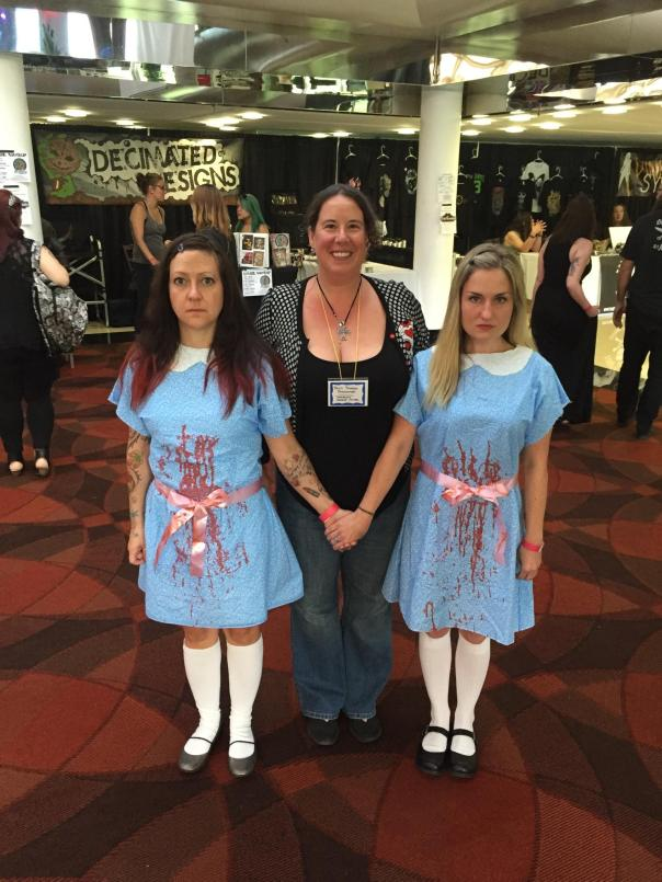 Me and the Grady twins from THE SHINING. Coolest. Costumes. EVER! Check out the real girls here: https://youtu.be/CMbI7DmLCNI Photo by Jason Harris.