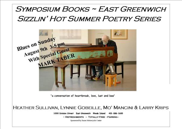 Sizzlin' Hot Summer Poetry Series Aug 9 Poster