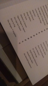 A Haunting Table of Contents