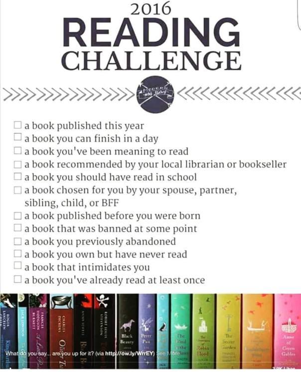 2016 Reading Challenge List