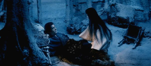 """One of my favorite moments from the Japanese anthology KWAIDAN. This scene is from """"The Woman of the Snow."""""""