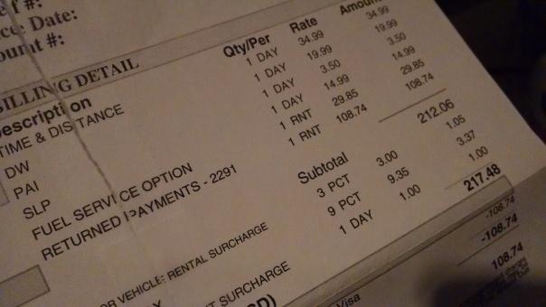Enterprise Rent-A-Car Bill Ripoff