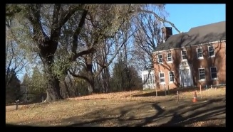 This is a 2013 shot of the doctor's house that we entered in 2002. Notice how much larger the tree is, and also, the window that was open that we went through is closed. This is a screenshot of a YouTube video by Marisol Velasco.