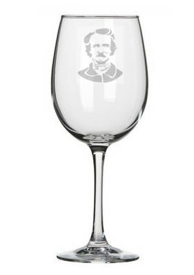 Poe Wine Glass