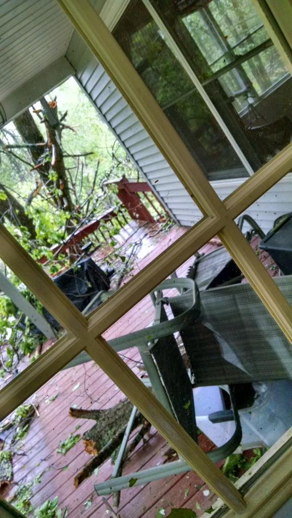 Tornado damage back porch