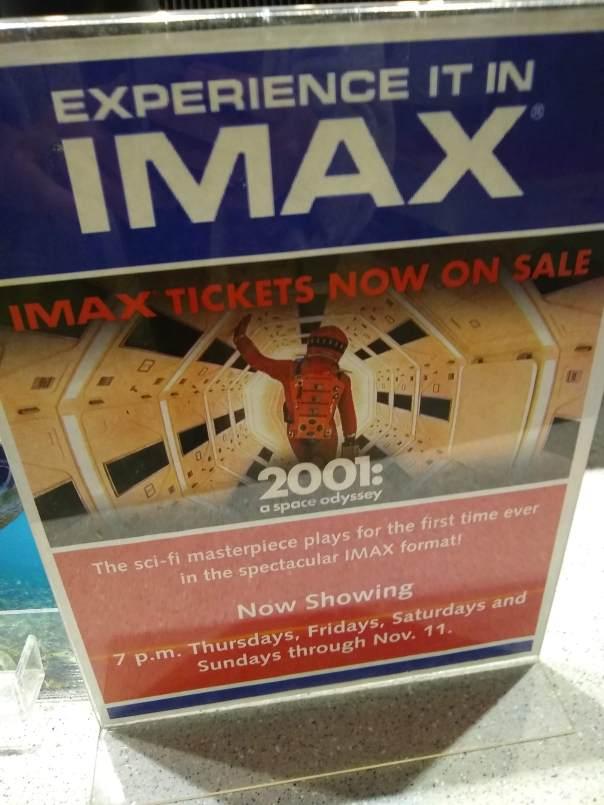IMAX ad placard