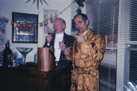 Manzino Chas Smoke Xmas Cocktail Dec 2002