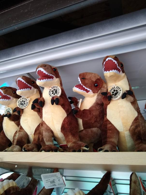 Stuffed animals at Dinosaur Safari gift cart