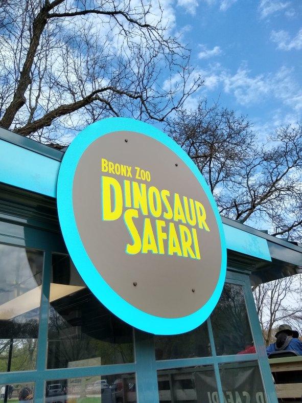 Dinosaur Safari ride sign