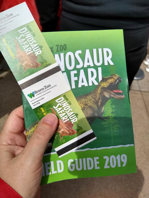 Dinosaur Safari tickets and field guide