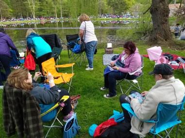 Water Lantern Festival camping spot