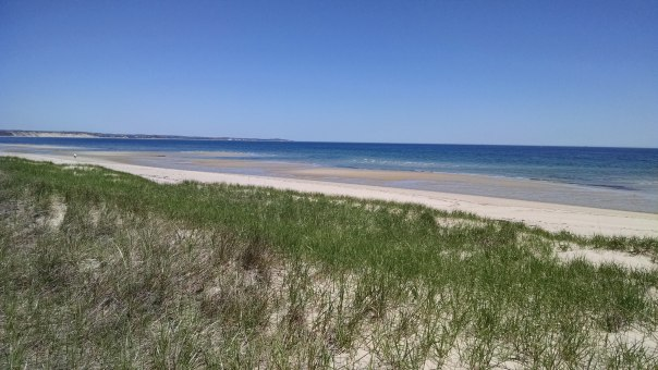 The beach near our rented house.
