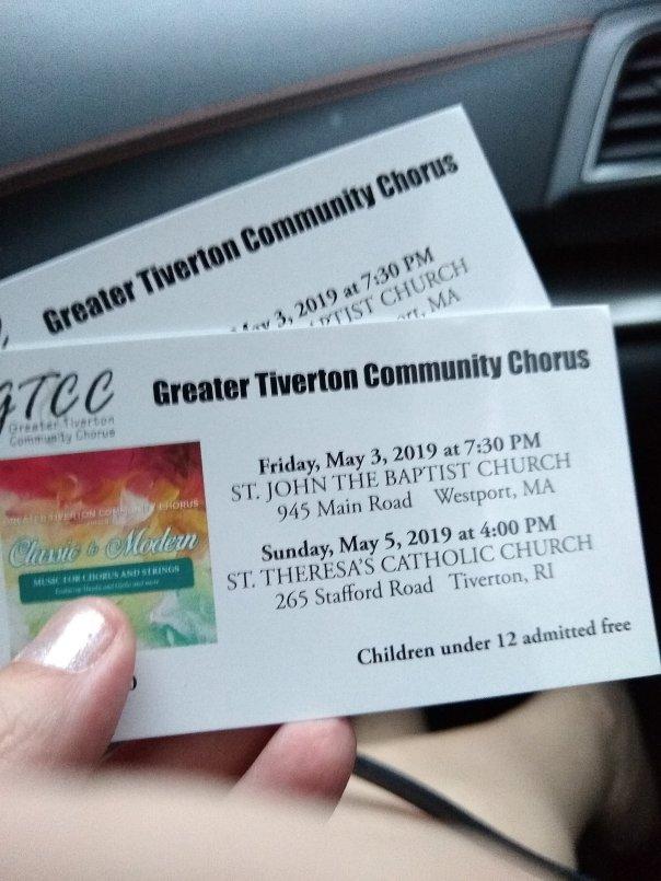 Greater Tiverton Community Chorus spring concert tickets