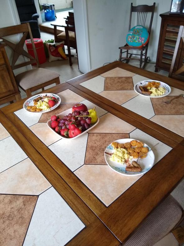 Next day breakfast