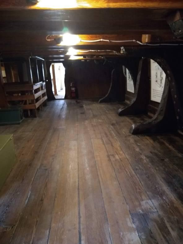 Below decks Charles W. Morgan