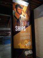Interpretive signage -- what was life like on the ships