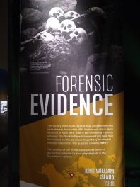 Forensic evidence signage