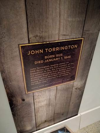 Interpretive signage for Torrington grave