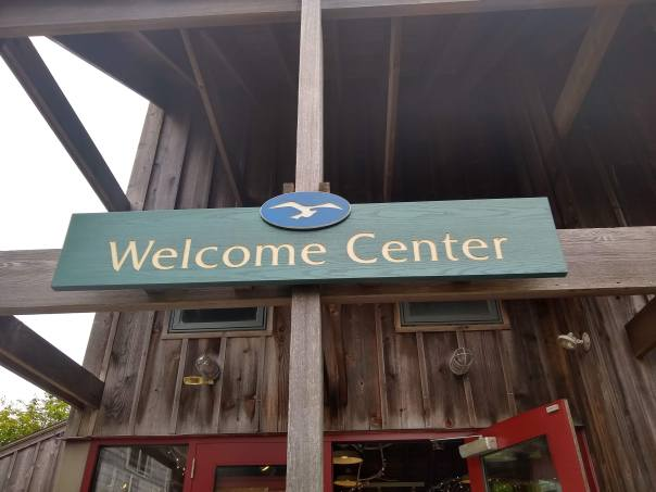 Norman Bird Sanctuary Welcome Center Sign