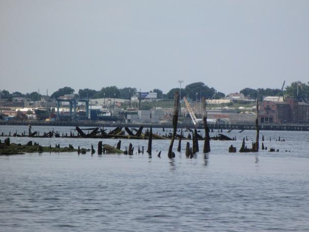 Remains at shipwreck graveyard
