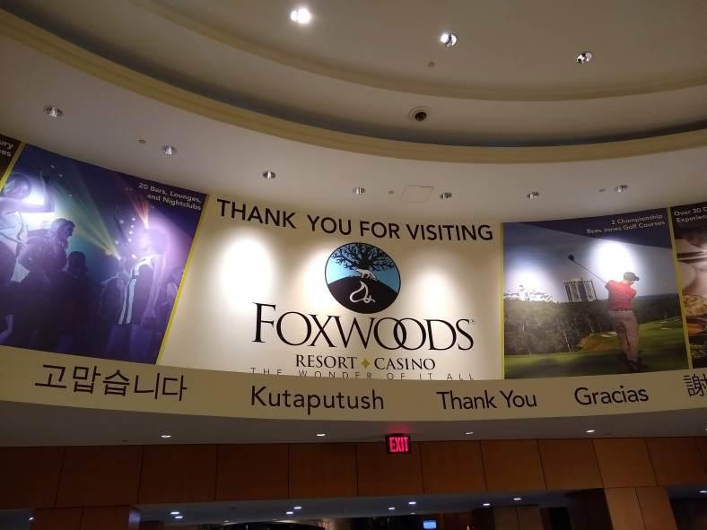Foxwoods Farewell banner