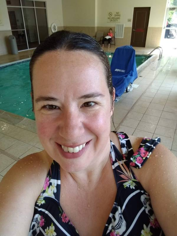 Pool selfie -- Hilton Garden Inn Preston CT