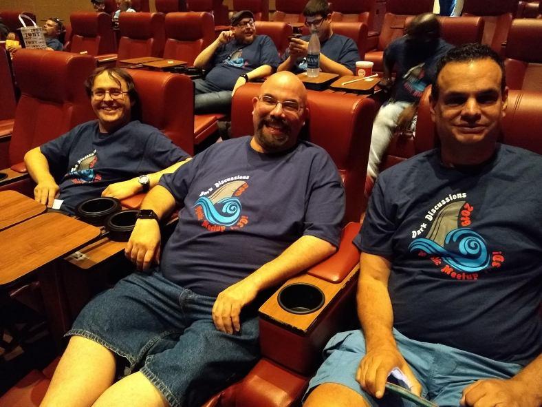 DD guys in movie seats